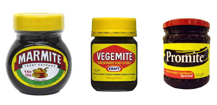 Marmite, Promite, and Vegemite Comparison | Erica Swallow's Blog