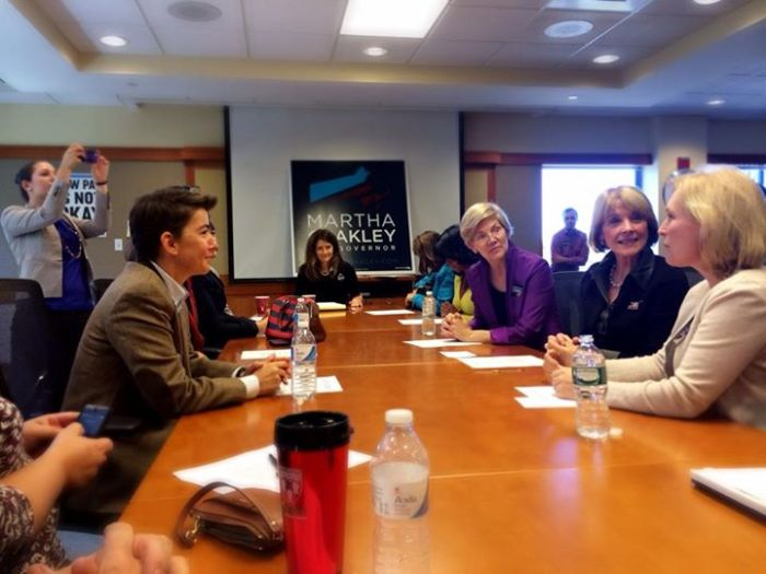 Martha Coakley at Women's Leadership Council roundtable