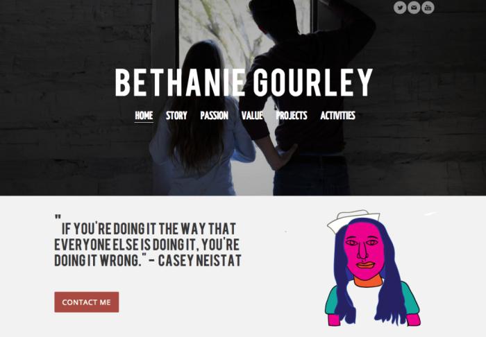Bethanie Gourley digital portfolio