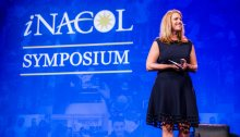 Diane Tavenner, CEO and Co-Founder of Summit Public Schools, delivering her keynote address at the 2017 iNACOL Symposium in Orlando, Florida.