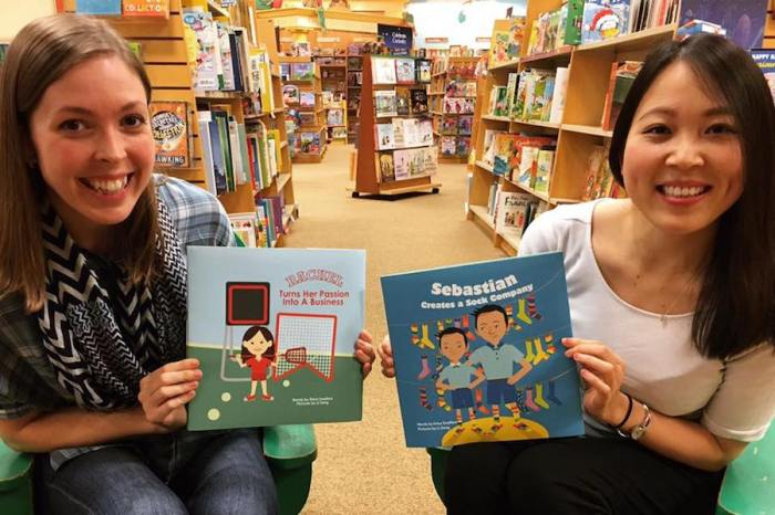 Author Erica Swallow and illustrator Li Zeng
