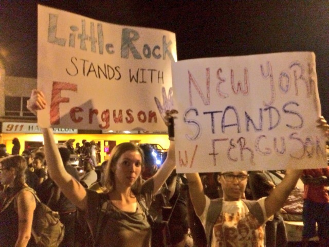 Erica Swallow and Jacquelyn Martell in Ferguson