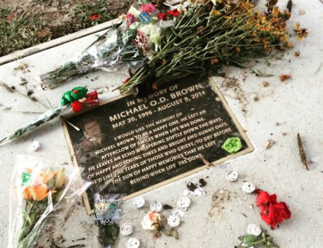 Michael Brown Memorial Plaque