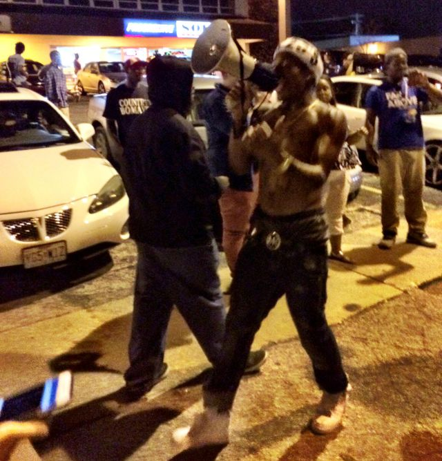 Protest leader in Ferguson
