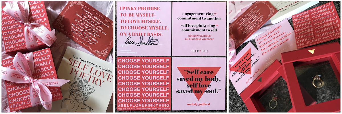 Fred & Far Self-Love Pinky Ring packaging and experience